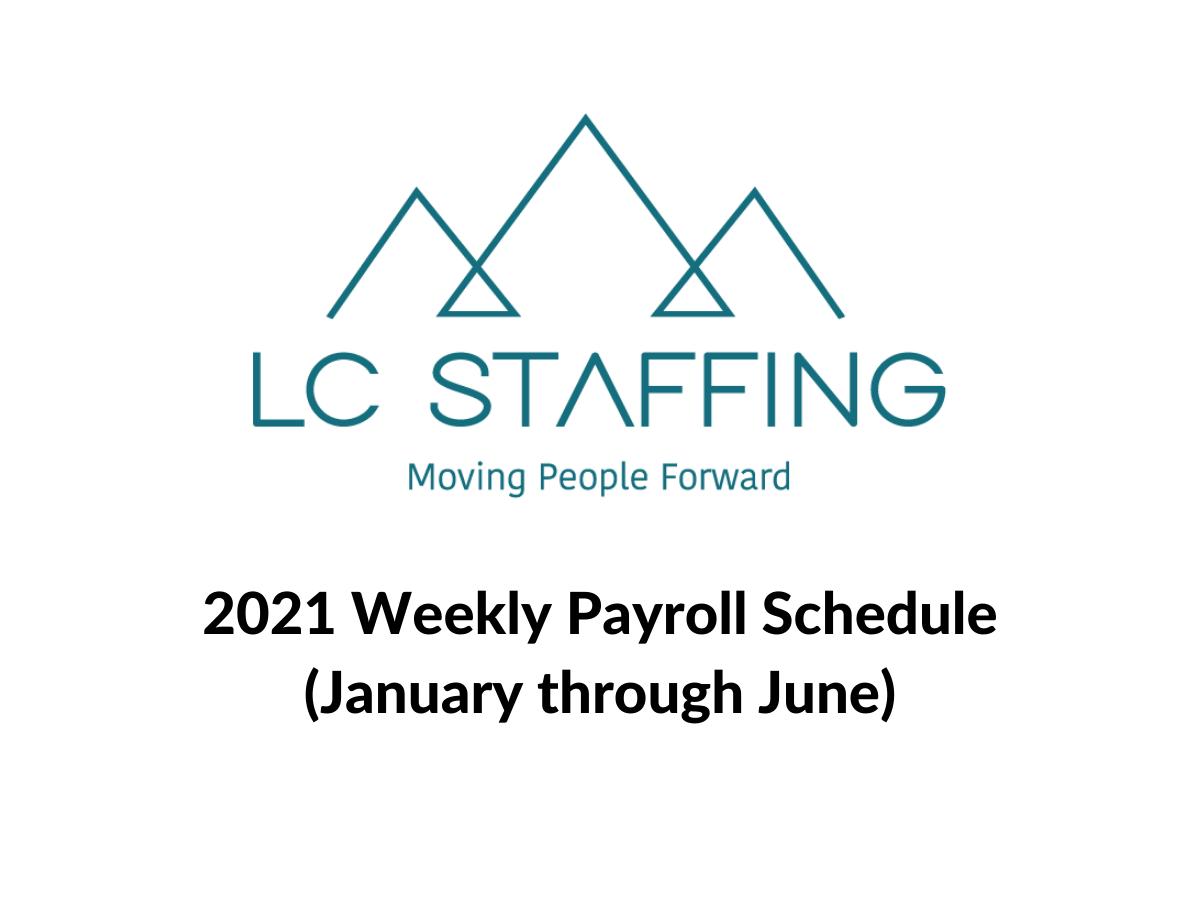 LC Staffing Payroll schedule screenshot